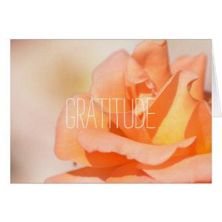 Dankbarkeit Grußkarte