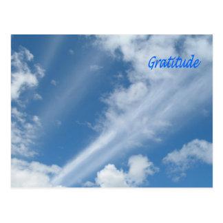 Dankbarkeit in den Wolken: Wolken-Kunst! Postkarten
