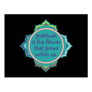 Dankbarkeit ist die Blume Postkarten
