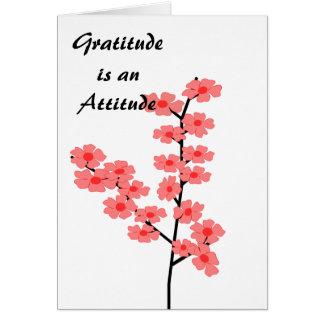 Dankbarkeit ist eine Haltung Grußkarte