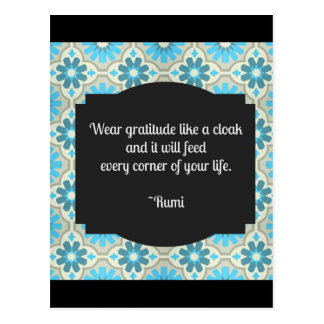 Dankbarkeit Rumi Zitat Postkarten