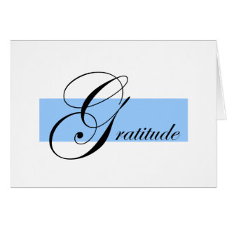 Dankbarkeits-Anmerkungs-Karte Karte