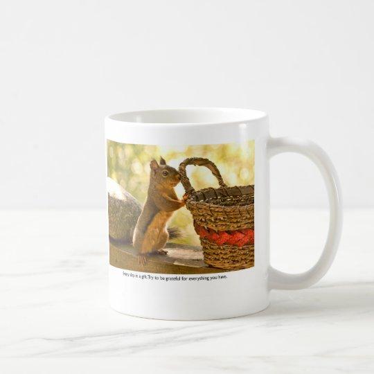 Dankbarkeits-Eichhörnchen Kaffeetasse