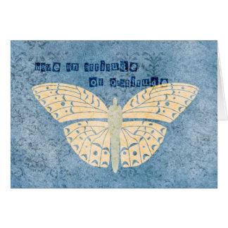 Dankbarkeits-Haltungs-Schmetterling Grußkarte