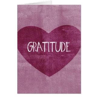 Dankbarkeits-Herz Grußkarte