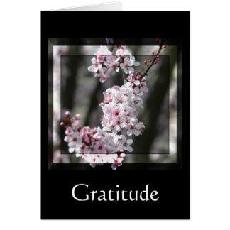 Dankbarkeits-Kirschblüte mit Blumen Karte