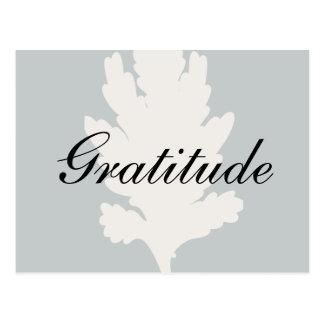 Dankbarkeits-weißes graues Blatt Postkarte