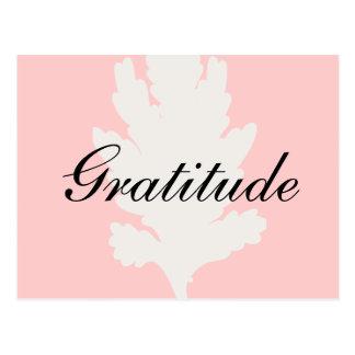 Dankbarkeits-weißes rosa Blatt Postkarten