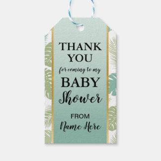 Danke Babyparty-Palmen-tropische Umbauten Geschenkanhänger