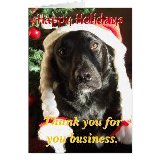 Danke bewertete Kunden-Feiertags-Karte Grußkarte