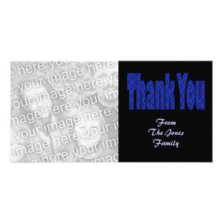 danke blau photogrußkarten
