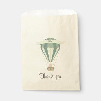 """""""danke"""" blauer Heißluftballon des Gastgeschenks Geschenktütchen"""