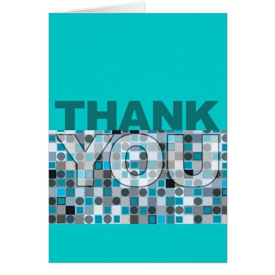 Danke, blaues Tupfen-Muster zu kardieren Mitteilungskarte