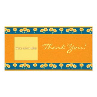Danke Blumen 1 Foto-Karten-Schablone Photokarten
