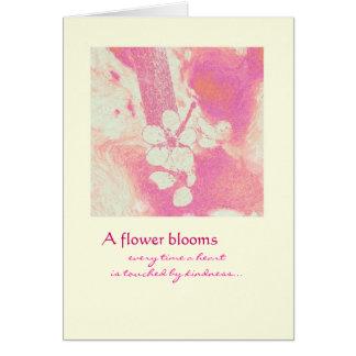 Danke - Blumen-Blüte Grußkarte