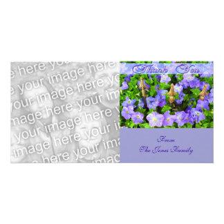 danke Blumengarten Photo Grußkarte