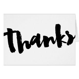 Danke! Dankbarkeits-Kalligraphie danken Ihnen zu Grußkarte