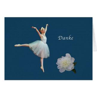 Danke, Danke, Deutscher, Ballerina Grußkarte