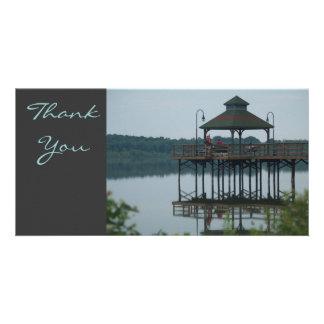 Danke, Dock w/Gazeebo Fotokartenvorlage