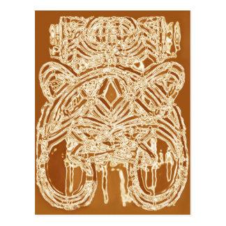 Danke, ethnische abstrakte feine Kunst-Postkarten Postkarte