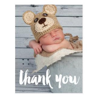 Danke Foto-Baby-Geburts-Mitteilung Postkarte