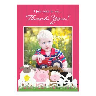 Danke Foto-Bauernhof-flache Einladung