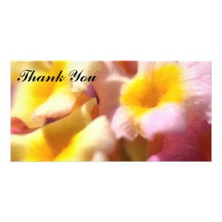 Danke Fotokarte mit Lantana-Blumen Karte