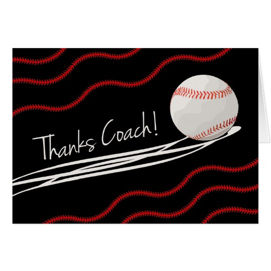 Danke für Baseballtrainer, Fastball u. Stiche Karte