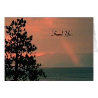 Danke für Beileids-Anmerkungs-Karte, Lichtstrahl Karte