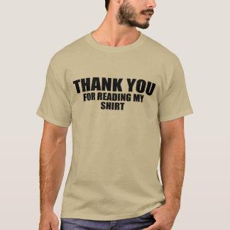 Danke für das Ablesen meines Shirts