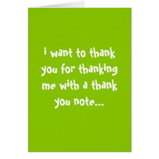 danke für das Danken ich… Grußkarte
