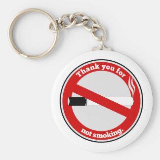 Danke für das Rauchen nicht Standard Runder Schlüsselanhänger