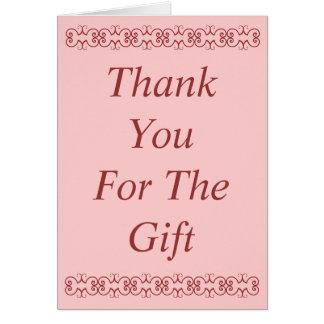 Danke für die Geschenkkarte Karte