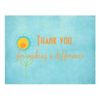 Danke für die Herstellung einer Postkarte