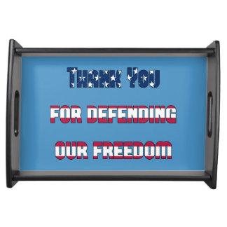 Danke für die Verteidigung unserer patriotischen Tablett