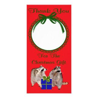 Danke für die Weihnachtsgeschenk-Foto-Karte Personalisierte Photo Karte