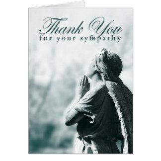 danke für Ihr Beileid (betender Engel) Mitteilungskarte