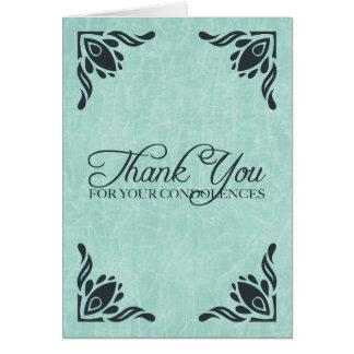 danke für Ihr Beileid Karte