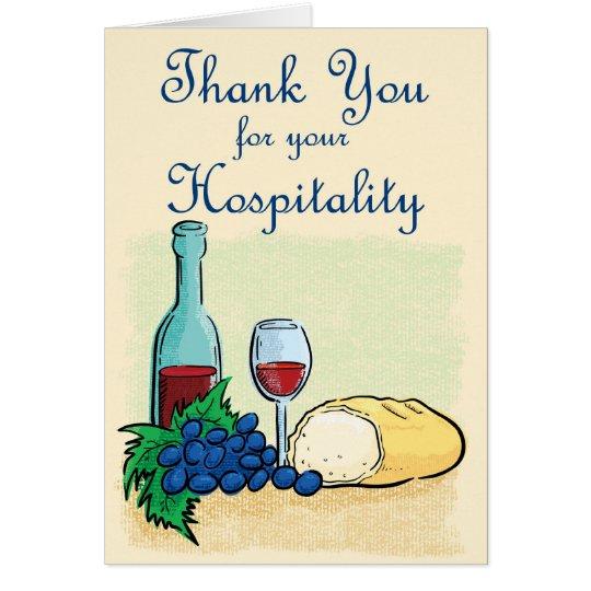 Danke für Ihre Gastfreundschaft Karte