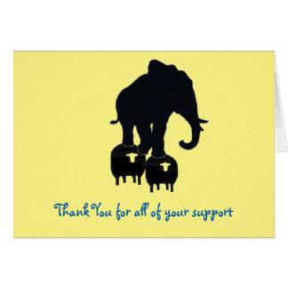 Danke für Ihre Unterstützung Karte