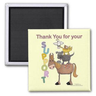 Danke für Ihre Unterstützung Quadratischer Magnet