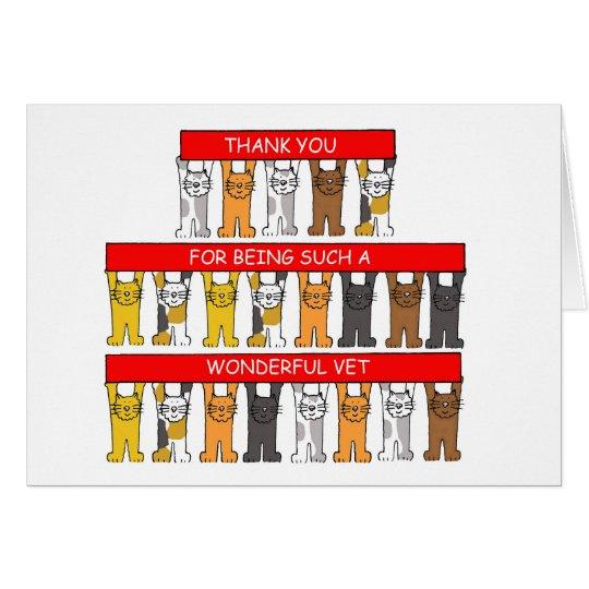 Danke für Sein ein wunderbarer Tierarzt Karte