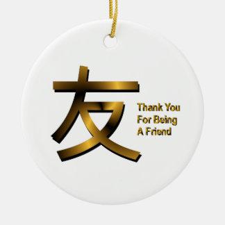Danke für Sein eine Freund-Verzierung Keramik Ornament