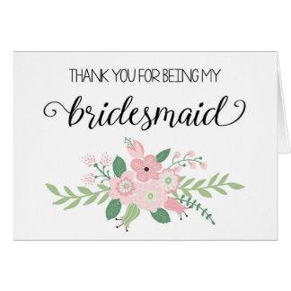 Danke für Sein meine Brautjungfern-Karte Grußkarte