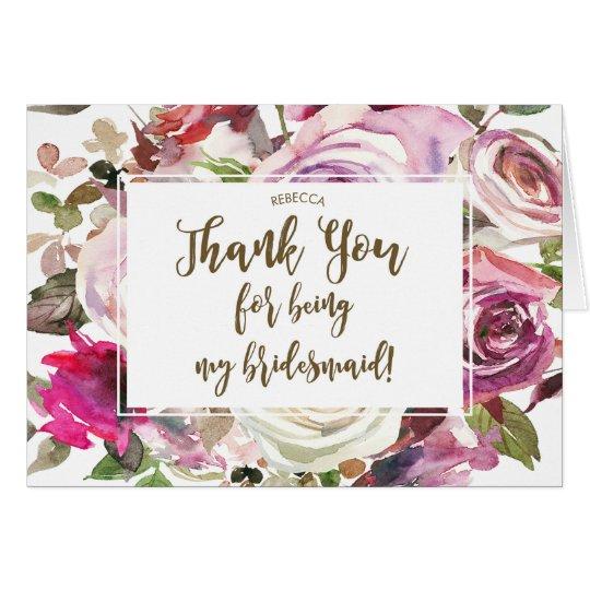 danke für Sein meine Brautjungfernkarte Grußkarte
