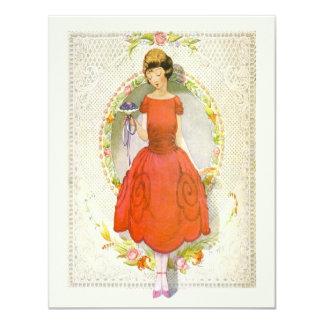 Danke für Sein meine Vintage Brautjungfer 10,8 X 14 Cm Einladungskarte