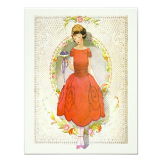 Danke für Sein meine Vintage Brautjungfer Karte