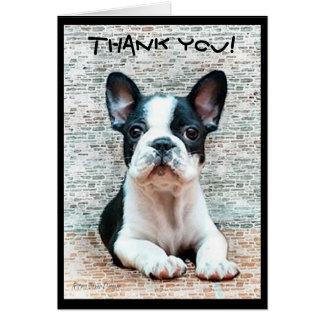 Danke Grußkarte der französischen Bulldogge