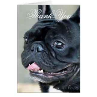 Danke Grußkarte der französischen Bulldogge Hunde