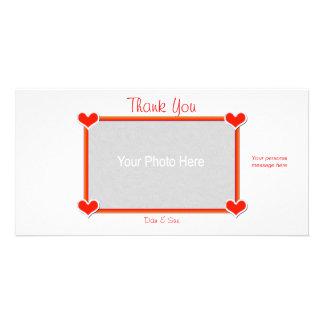 Danke Herzen 4 Sie Foto Karten Vorlage